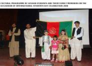 Cultural programme by afgan students